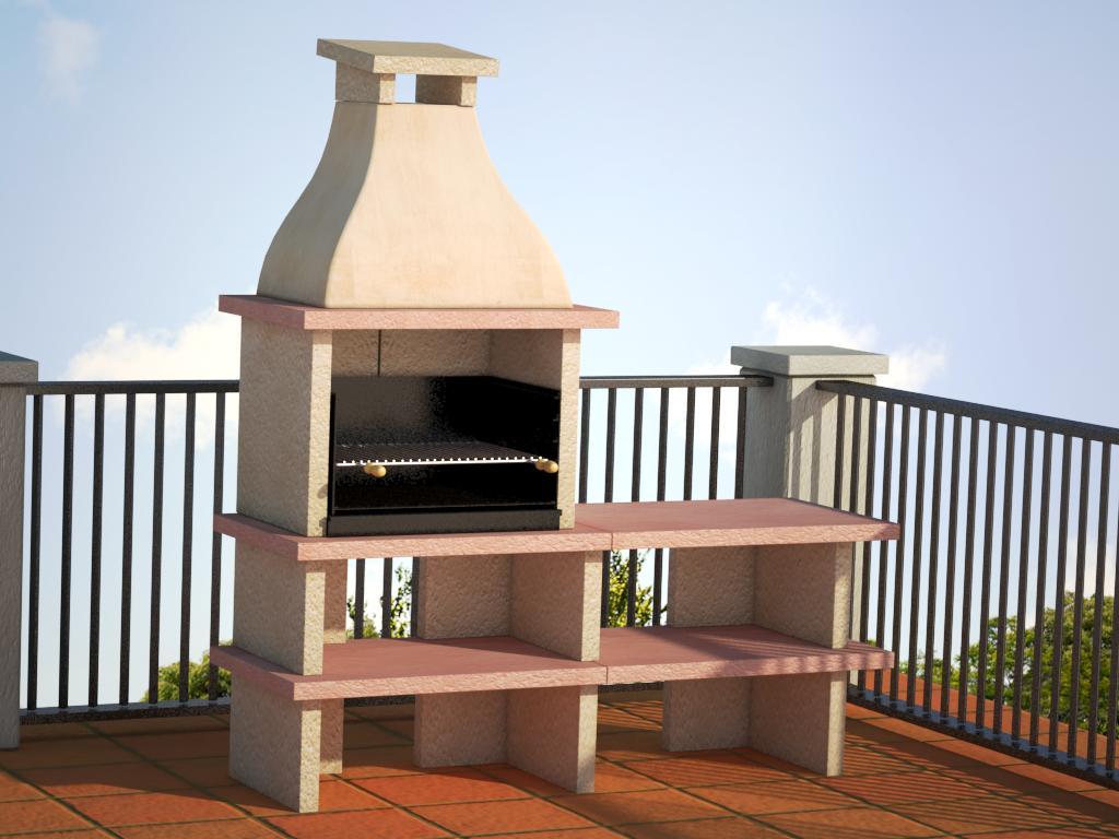 Barbacoa elegant ref 41002 barbacoas y piedra artificial for Chimeneas prefabricadas