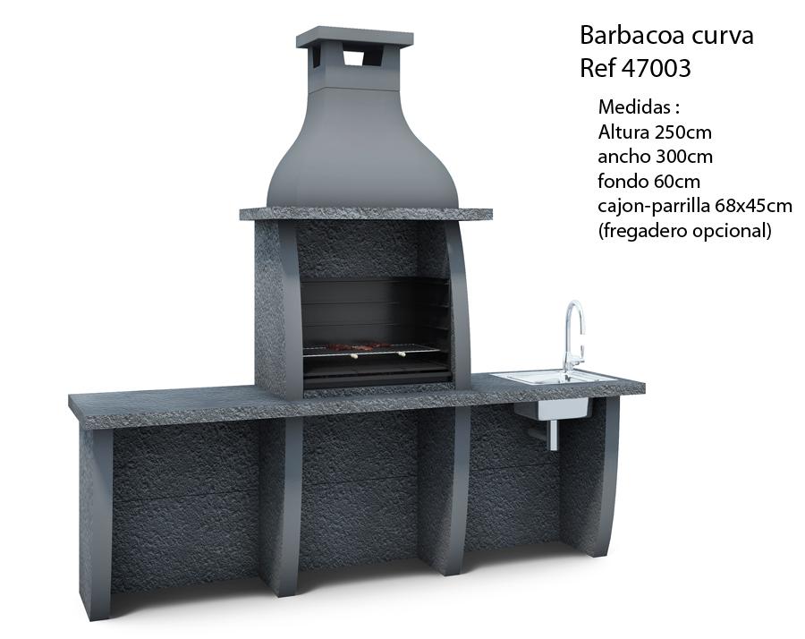 Barbacoa curva ref 47003 barbacoas y piedra artificial - Barbacoa obra ...