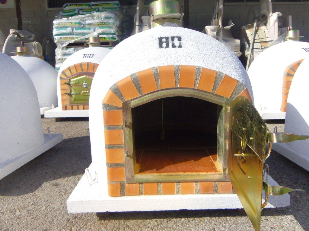 Horno ladrillo 80 2 barbacoas y piedra artificial - Medidas hornos de lena ...