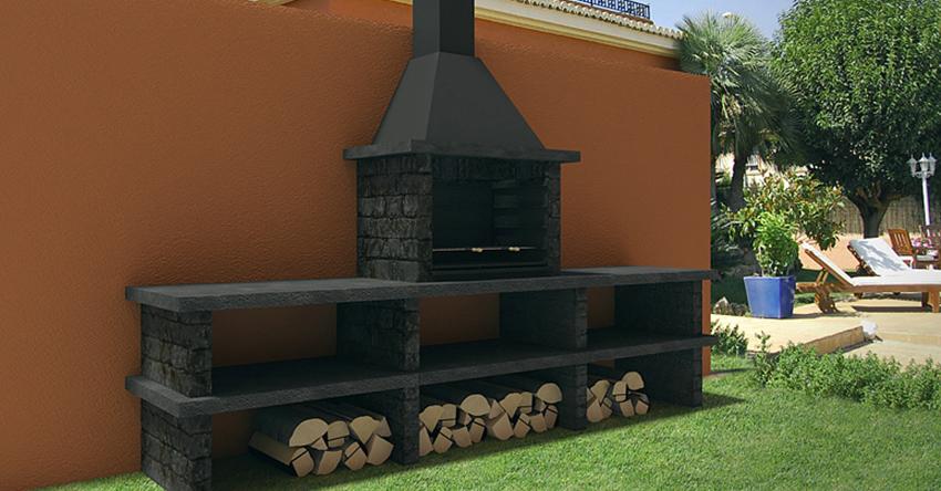 Barbacoas prefabricadas la opci n m s recomendada para tu for Barbacoas de piedra para jardin