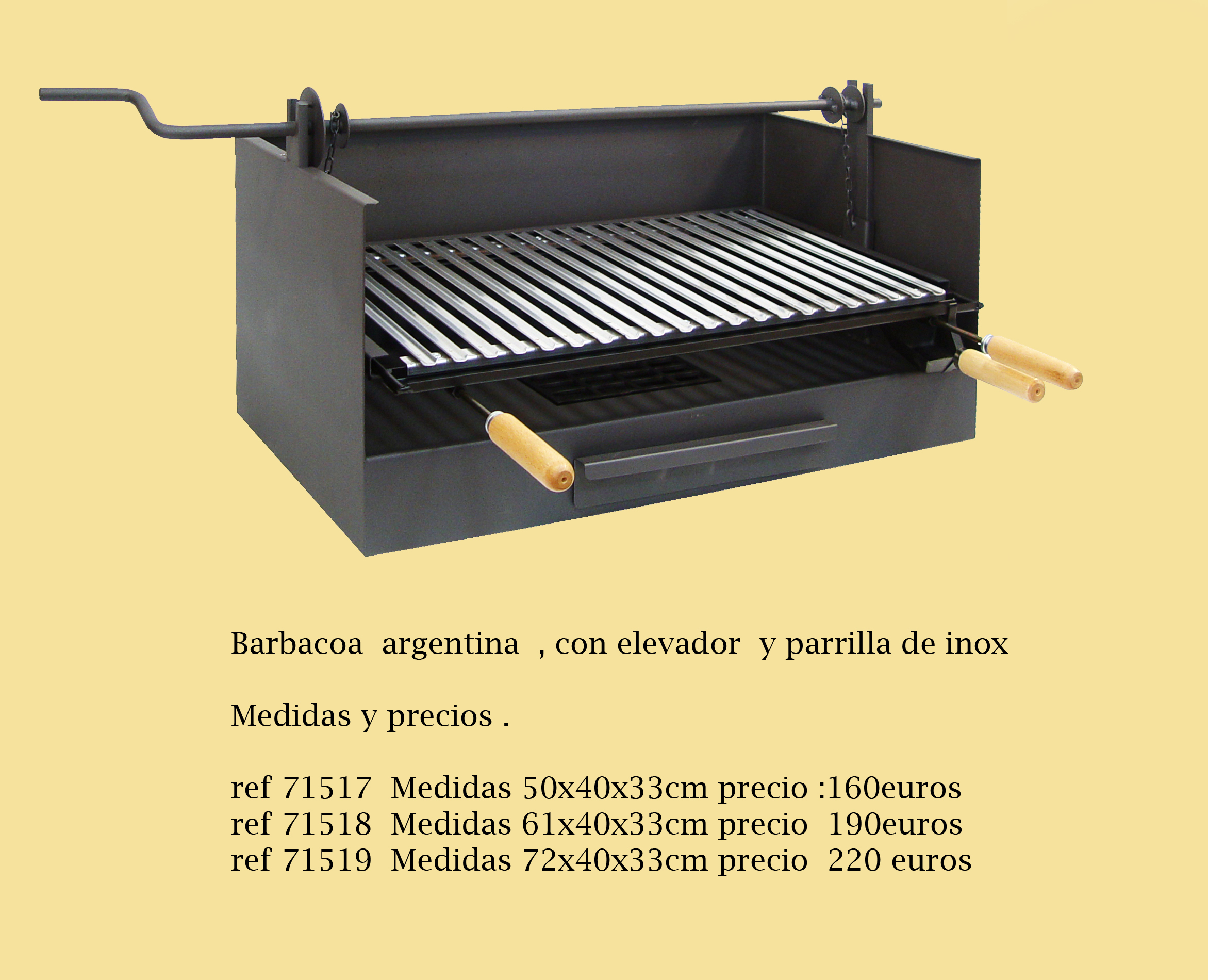 Barbacoa argentina con elevador ref 71517 barbacoas y - Barbacoas a medida ...
