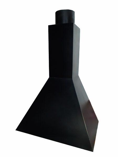 Campana De Hierro Piramidal Con Tubo De 200mm Barbacoas Y Piedra