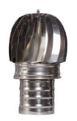 Sombrero giratorio 200mm inox