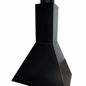 Campana de hierro piramidal con tubo de 20mm