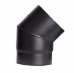 Codo negro mate de 45º diámetro 200mm